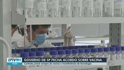 Doria assina contrato para 46 milhões de doses da vacina chinesa