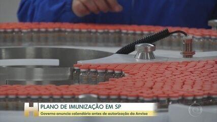 SP anuncia que plano de vacinação contra a Covid-19 deve começar dia 25 de janeiro