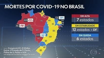 Brasil ultrapassa as 195 mil mortes por Covid