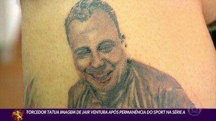Sport supporter gets tattooed by Jair Ventura
