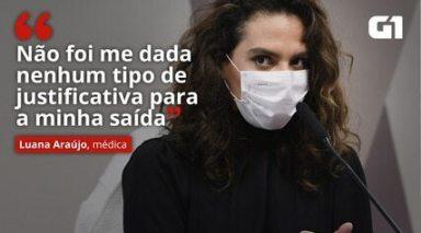 VÍDEO: 'Não foi me dada nenhum tipo de justificativa para a minha saída', diz Luana Araújo