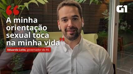 VIDEO: 'My sexual orientation touches my life', says Eduardo Leite