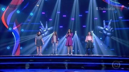 Clarah Passos, Henrique Bonadio, Júlia Antonini and Maria Alice Martins sing 'Hey Jude'