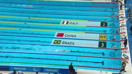 Brazil is bronze in the 4x50m freestyle relay up to 20 points - Tokyo Paralympics