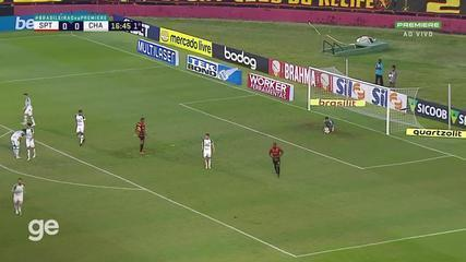 At 16 min of the 1st half - sure submission by Thiago Neves do Sport against Chapecoense