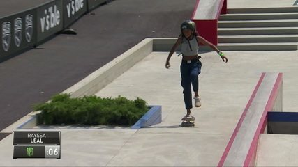 Rayssa Leal makes a good lap and gets 4.5