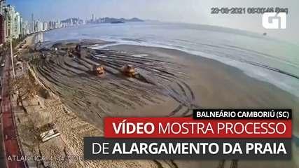 Beach expansion process in Balneário Camboriú (SC)