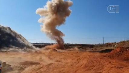 Gate destroys explosives spread by gang in Araçatuba