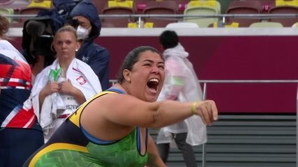 Marivana Oliveira is silver in the women's shot put F35 - Tokyo Paralympics