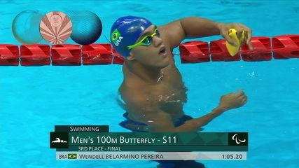 Wendell Pereira is bronze in the men's 100m butterfly S11 - Tokyo Paralympics