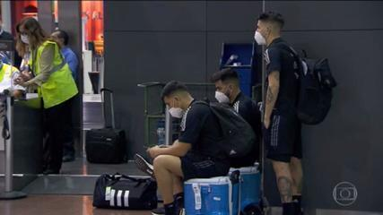 Game between Brazil and Argentina is suspended due to Argentine players not complying with health law