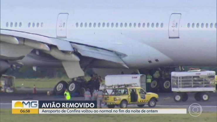 Após pouso, pista do aeroporto em Confins foi liberada no fim da noite