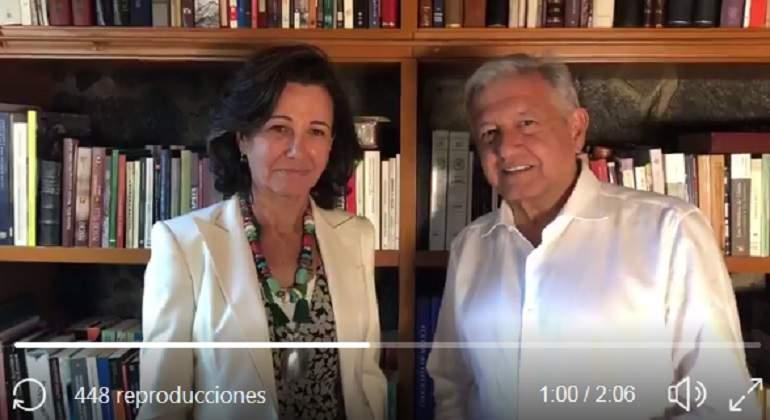 """AMLO invitó a Ana Botín, presidenta de Santander, a comer a su casa """"queremos comunicarles que hay confianza"""" - eleconomistaamerica.com"""