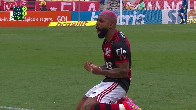 Gol do Flamengo! Gabigol marca, lance é anulado, mas após VAR, juiz valida, aos 13 do 2º