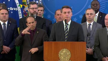 Confira os principais pontos do pronunciamento de Jair Bolsonaro