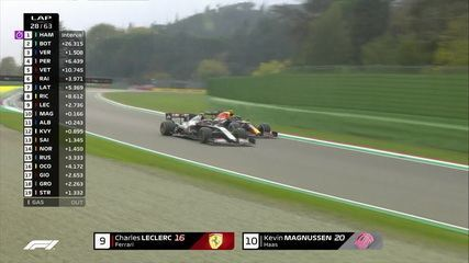 Magnussen passa Ricciardo e recebe ataque de Leclerc