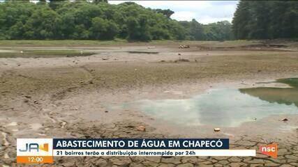 Com rodízio no abastecimento, bairros de Chapecó terão distribuição interrompida por 24 hs
