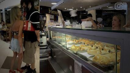 Vídeo mostra mulher agredindo funcionários e clientes de padaria em SP
