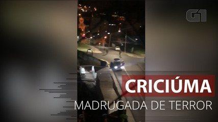 VÍDEO: Imagens mostram momento de filmagem em Criciúma, SC