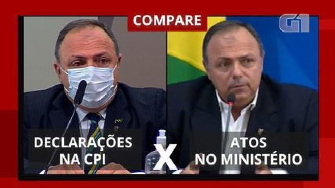 Compare: o que Pazuello falou na CPI e o que disse quando estava no Ministério da Saúde