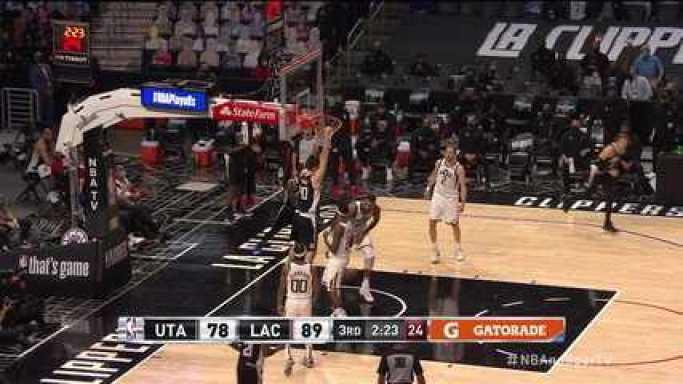 Melhores Momentos: Los Angeles Clippers 132 x 106 Utah Jazz pela NBA