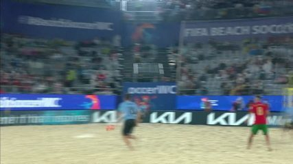 Uruguay's goals 7 x 6 Portugal, for the Soccer World Cup in Sand