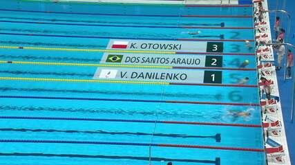 Gabriel Araújo takes 2nd in the Men's 100m Backstroke Qualifier S2 - Tokyo 2020 Paralympics