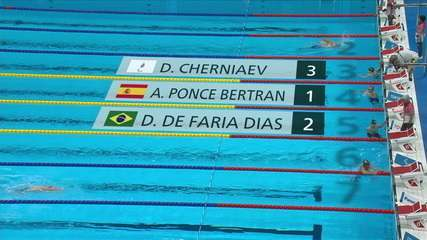 Daniel Dias takes 2nd in the men's 200m freestyle S5 - Paralympics in Tokyo 2020 qualifier