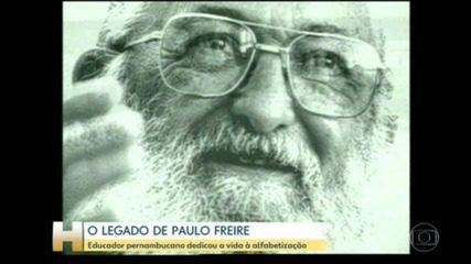Educador Paulo Freire faria cem anos neste domingo