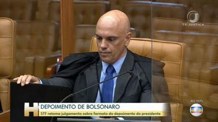 Bolsonaro diz que aceita depor presencialmente à PF; STF adia julgamento sobre formato