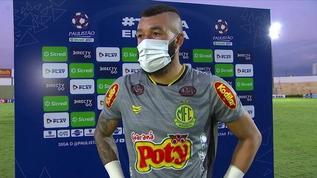 """""""Fico feliz pela partida, pelo empate dentro do que a gente propôs"""", diz Muralha"""