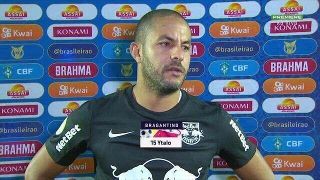 """Ytalo, do Bragantino, reconhece má atuação da equipe: """"A gente tocou muito a bola, mas não criamos grandes chances"""""""