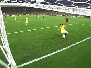 David Luiz saves Spain's goal in 2013 Confederations Cup final