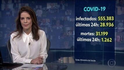 Brasil ultrapassa a marca de 31 mil mortos pelo novo coronavírus