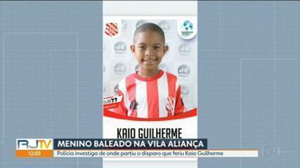 Polícia investiga de onde partiu o tiro que atingiu o menino Kaio