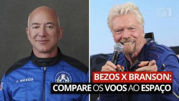Bezos X Branson: compare os voos dos bilionários ao espaço