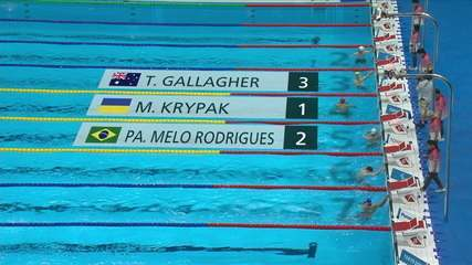 Phelipe Rodrigues takes 2nd in the men's 50m freestyle S10 - Paralympics in Tokyo 2020 qualifier