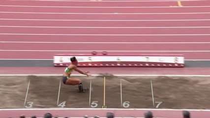 Silvania Costa takes 5m in the fifth attempt of the women's T11 long jump final - Tokyo 2020 Paralympics