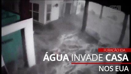 Water invades US home during Hurricane Ida