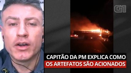Captain of the Military Police explains how explosives used by criminals in Araçatuba are triggered