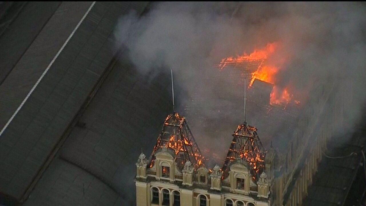 Incêndio atinge Museu da língua Portuguesa em São Paulo