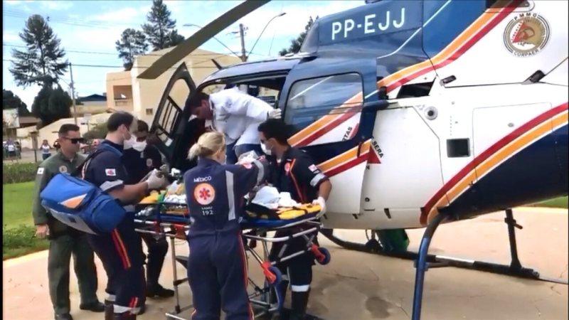 Corpo de Bombeiros transfere vítima de ataque em Janaúba para Montes Claros