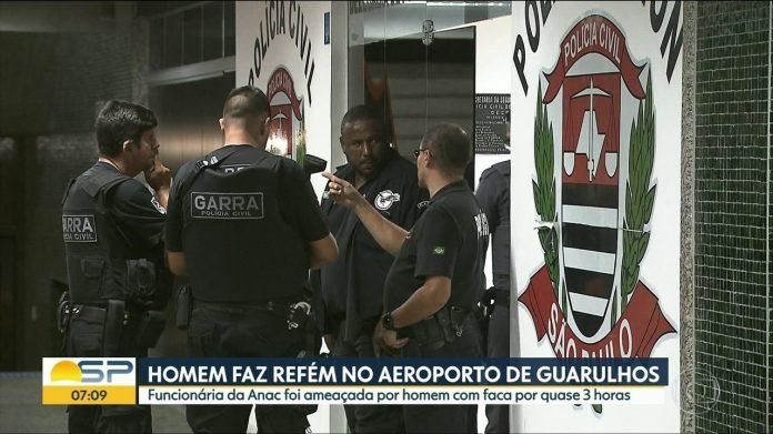 Funcionária da ANAC é ameaçada com faca e feita refém no aeroporto de guarulhos