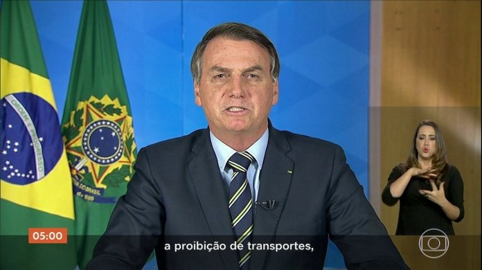 Bolsonaro asks on TV 'return to normal' and end of 'mass confinement'