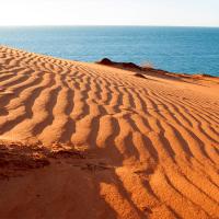 Monkey Mia, where the red desert meets the sea Monkey Mia red desert meets sea; Australian Traveller
