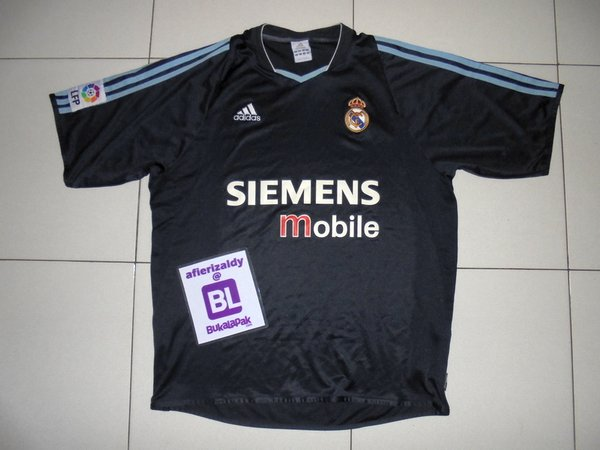Jersey Sepakbola Original Real Madrid 2003 Away Replica Size L - RMA-1402