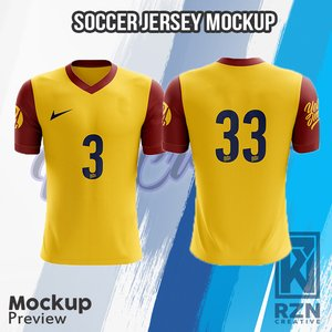 Download Mock Up Baju Futsal - Free Mockups | PSD Template | Design ...