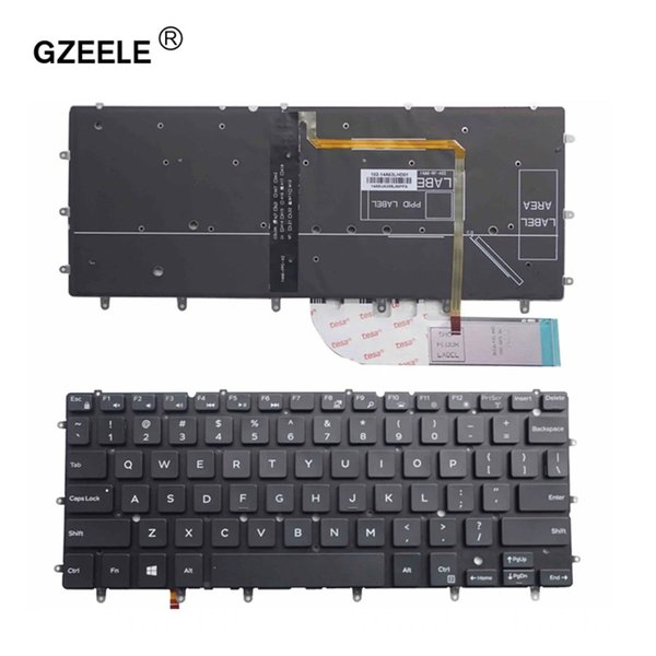 GZEELE US backlit laptop keyboard for DELL Inspiron XPS 13 7000 7347 7348 7352 7353 7359 15 7547