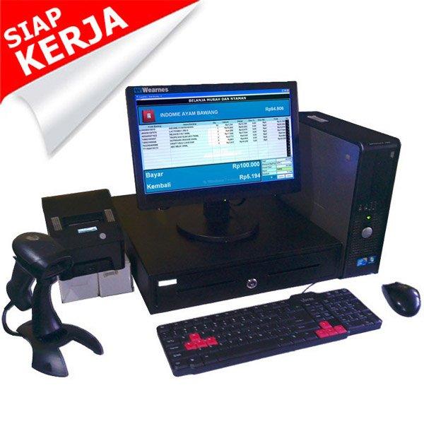 Paket Kasir   PC Kasir   Komputer Kasir   Mesin Kasir - 2 (Fullset + Hemat)