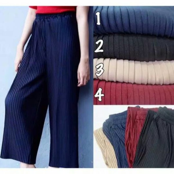 promo celana kulot murah panjang celana kulot plisket celana muslim